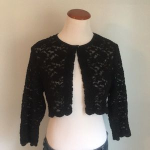 Dress barn lace cropped cardigan